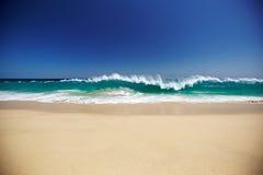 Spiaggia ed oceano Fotografia Stock Libera da Diritti