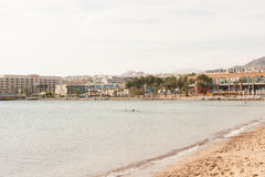 Spiaggia in Eilat Fotografie Stock