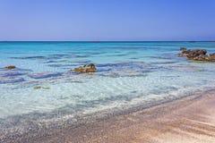 Spiaggia Elafonisi di Creta Immagini Stock