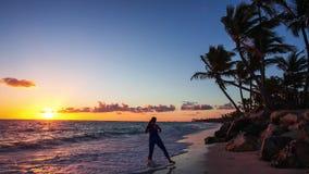 Spiaggia esotica nella Repubblica dominicana archivi video