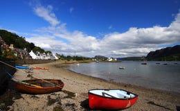 Spiaggia in estate, Scozia di Plockton Fotografia Stock