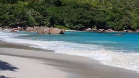 Spiaggia famosa di Anse Lazio su Praslin Seychelles Immagine Stock Libera da Diritti