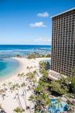 Spiaggia famosa di Waikiki Fotografia Stock