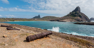 Spiaggia Fernando de Noronha Island di Sueste Fotografie Stock