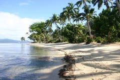 Spiaggia Fiji del ricorso di Qamea Fotografie Stock