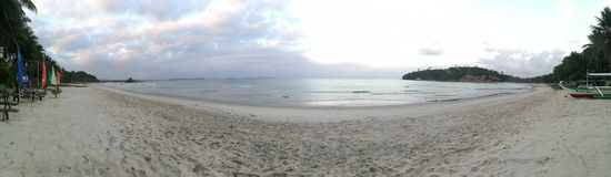 Spiaggia Filippine di Palawan Fotografia Stock