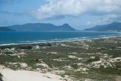 Spiaggia Florianópolis di Joaquina immagini stock libere da diritti