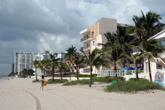 Spiaggia in Florida Immagine Stock