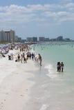 Spiaggia in Florida Immagini Stock Libere da Diritti