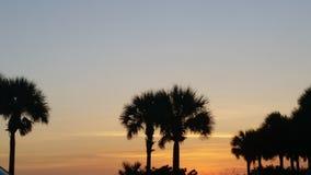 Spiaggia Florida del Madera di tramonto Fotografie Stock