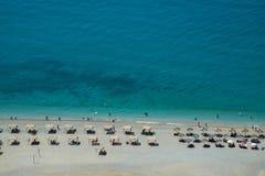Spiaggia fortemente sviluppata - vista superiore Immagini Stock Libere da Diritti