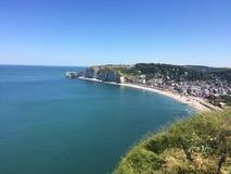 Spiaggia in Francia, Normandia Immagine Stock
