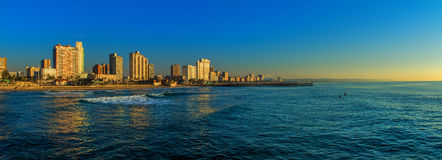 Spiaggia Front South Africa di Durban Fotografia Stock Libera da Diritti