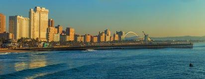Spiaggia Front South Africa di Durban Fotografia Stock