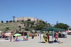 Spiaggia a Fuengirola, Spagna Fotografia Stock