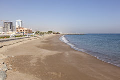 Spiaggia in Fujairah, UAE fotografie stock