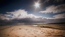 Spiaggia fuori da Texel Fotografia Stock Libera da Diritti