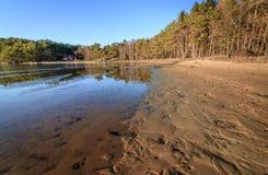 Spiaggia a Furulunden Mandal in Norvegia immagini stock libere da diritti