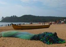 Spiaggia in Goa Fotografia Stock Libera da Diritti