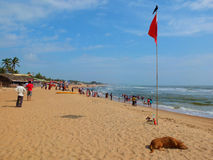 Spiaggia in Goa Fotografie Stock