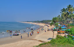 Spiaggia Goa, India di Sinquerium immagine stock