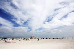 Spiaggia grandangolare Fotografia Stock