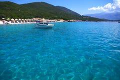 Spiaggia greca Fotografie Stock Libere da Diritti