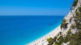 Spiaggia greca Immagini Stock Libere da Diritti