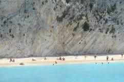 Spiaggia greca Fotografia Stock Libera da Diritti
