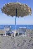 Spiaggia in Grecia Immagine Stock Libera da Diritti