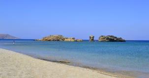 Spiaggia in Grecia Immagine Stock