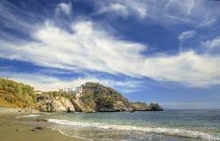 Spiaggia in Grecia immagini stock libere da diritti