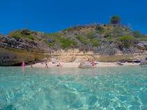 Spiaggia Grecia Fotografia Stock Libera da Diritti