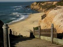 Spiaggia a Half Moon Bay Fotografie Stock Libere da Diritti
