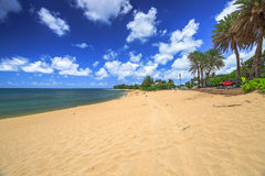 Spiaggia Hawai di tramonto fotografia stock libera da diritti