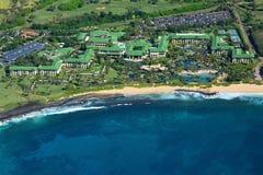 Spiaggia hawaiana dall'elicottero Fotografia Stock