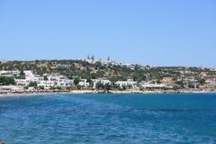 Spiaggia in Hersonissos Fotografia Stock Libera da Diritti