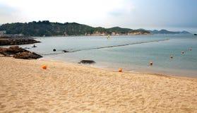 Spiaggia Hong Kong dell'isola di Cheung Chau immagine stock