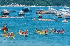 Spiaggia Hong Kong di Stanley della corsa di festival di barche di drago Immagine Stock Libera da Diritti