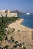 Spiaggia a Honolulu Fotografia Stock Libera da Diritti