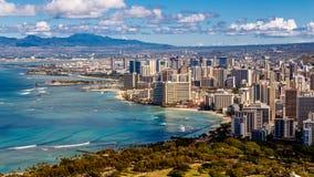 Spiaggia Honolulu di Waikiki Immagine Stock Libera da Diritti