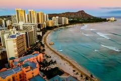 Spiaggia Honolulu di Waikiki Immagine Stock