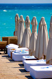 Spiaggia in hotel Fotografie Stock Libere da Diritti