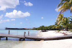 Spiaggia i Caraibi dell'Aruba Fotografie Stock