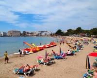 Spiaggia Ibiza di es Cana Immagini Stock