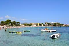 Spiaggia Ibiza, Spagna di es Cana Immagine Stock Libera da Diritti