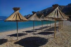 Spiaggia idillica fotografia stock libera da diritti