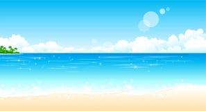 Spiaggia idillica royalty illustrazione gratis