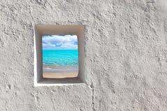 Spiaggia idillica del turchese dei Balearic Island immagine stock libera da diritti
