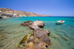 Spiaggia idillica di Vai su Crete Immagine Stock